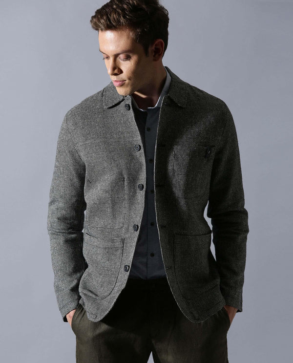 Herman-Zipper Jacket-Grey JACKETS RARE RABBIT