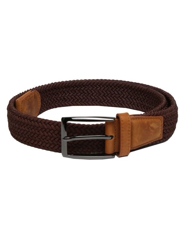 BRENDON- WOVEN CORD BELT - BROWN RR BELTS RARE RABBIT