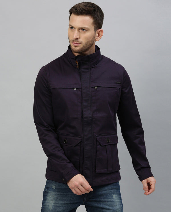 TED- OUTERWEAR JACKET-PURPLE COTTON JACKET RARE RABBIT