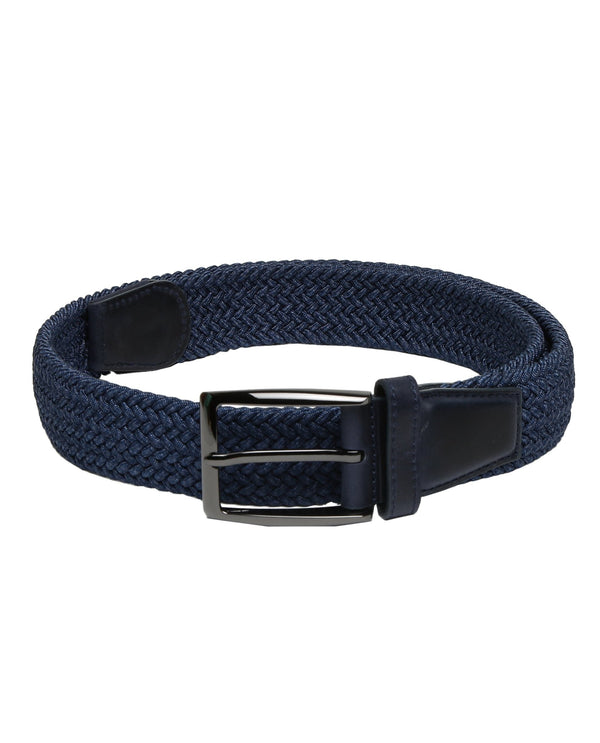 BRENDON-WOVEN STRETCHABLE BELT - BLUE RR BELTS RARE RABBIT
