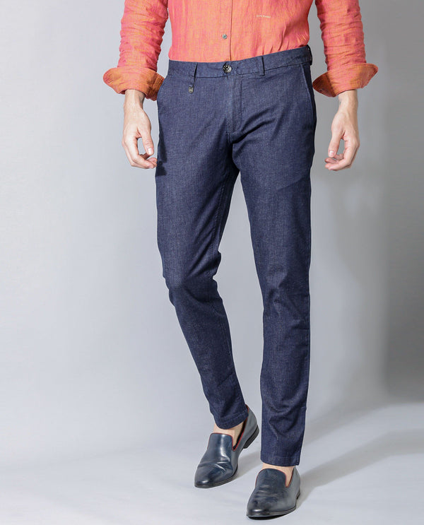 DANE-INDIGO DENIM PANT-BLUE TROUSERS RARE RABBIT