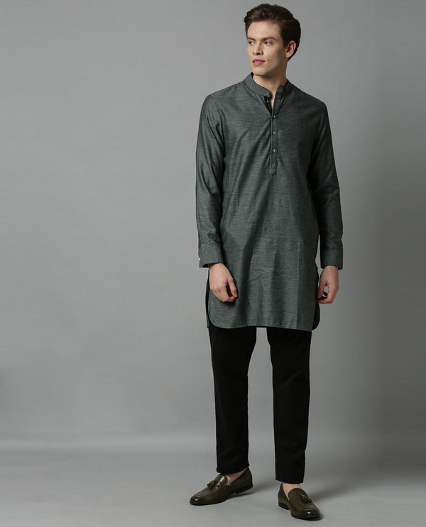 CELEB-MENS KURTA-GREEN KURTA RARE RABBIT