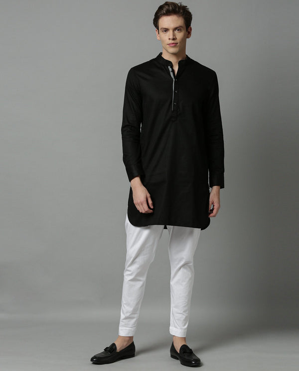 CELEB - MEN'S KURTA - BLACK KURTA RARE RABBIT
