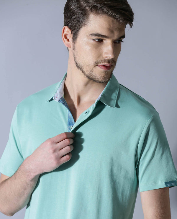 REVERT-CONTEMPORARY POLOS-AQUA POLO RARE RABBIT