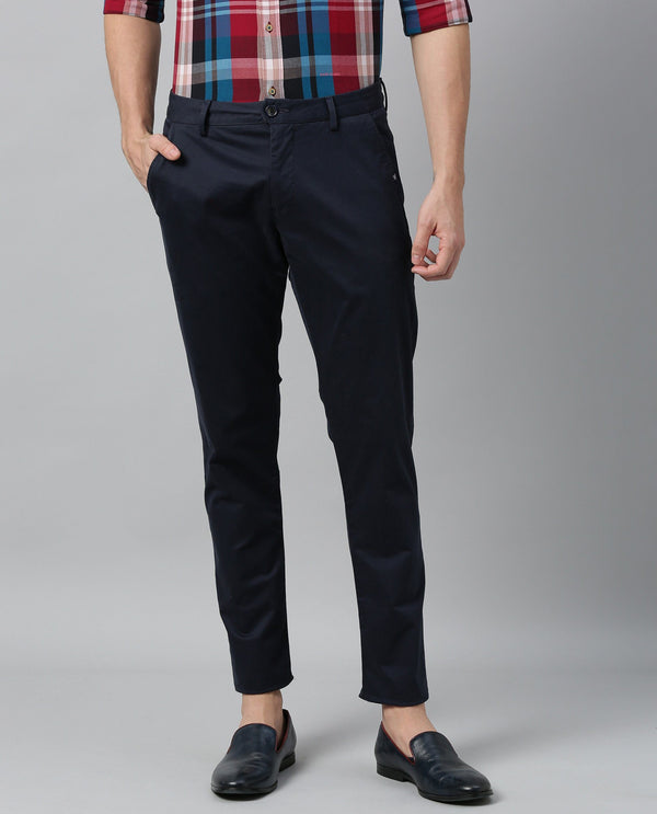 SACERO-2-SLIM FIT Trouser/CHINO- NAVY TROUSERS RARE RABBIT