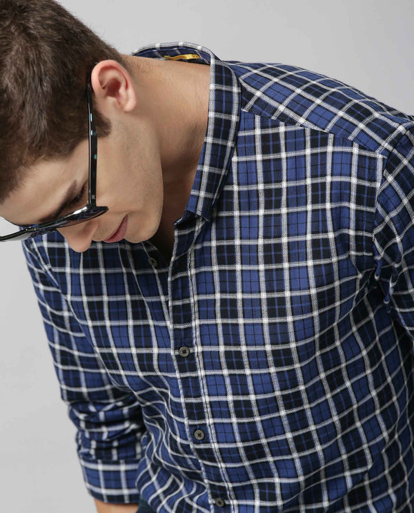 PRIMERO - CHECK SHIRT - BLUE SHIRT RARE RABBIT