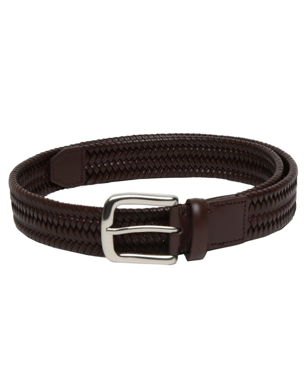 BRICKLE- STRETCH LEATHER BELT- BROWN RR BELTS RARE RABBIT