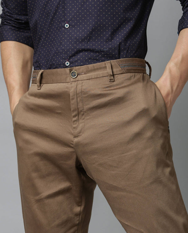 Drip-Solid TROUSER/Chino-Khaki TROUSERS RARE RABBIT