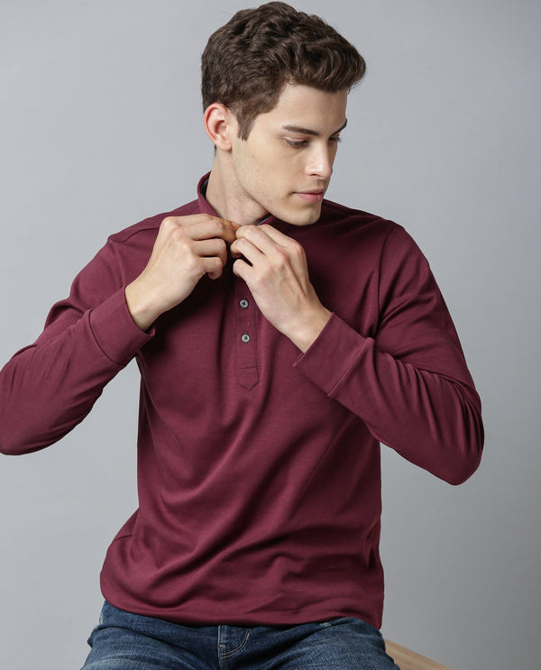 ZORO-FULL SLEEVE POLO-MAROON POLO RARE RABBIT