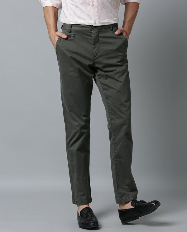 CANAL 2-SOLID TROUSER-GREEN TROUSERS RARE RABBIT