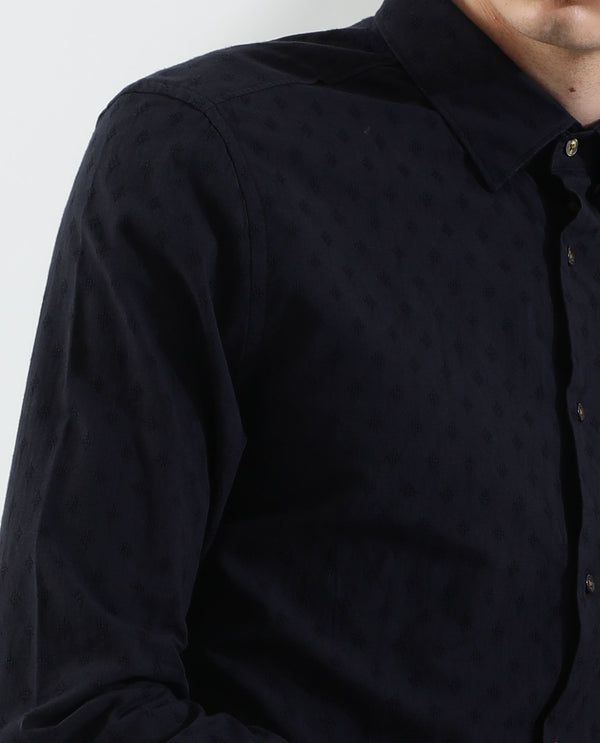 Dobs-Detailed Shirt-Black