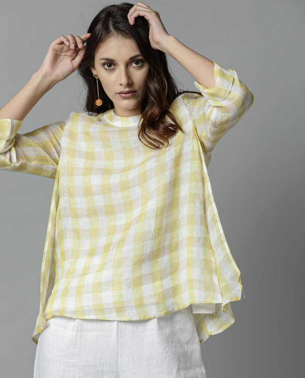 APRIL-LINEN TOP- YELLOW TOP RAREISM