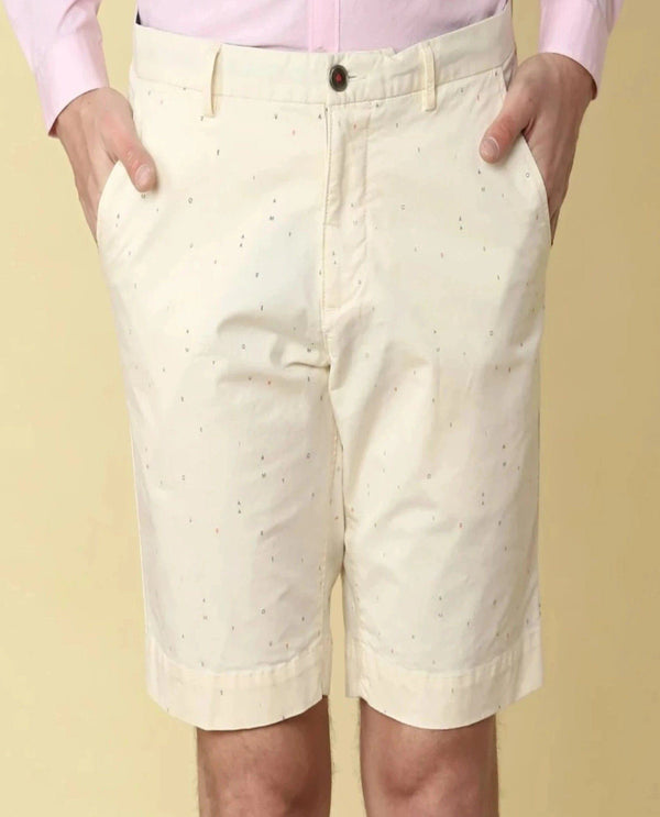 Logomania-2-Casual Shorts-Offwhite SHORTS RARE RABBIT