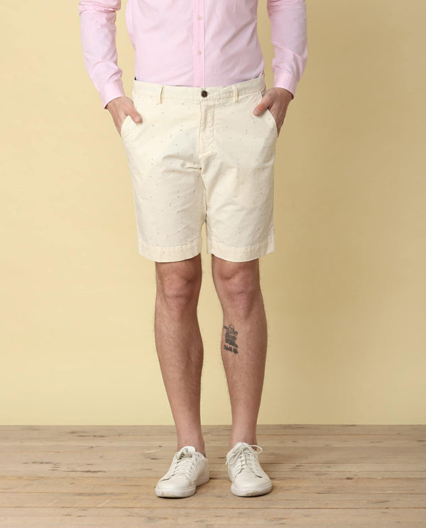 LOGOMANIA-2.1-MEN'S SHORTS-OFFWHITE SHORTS RARE RABBIT