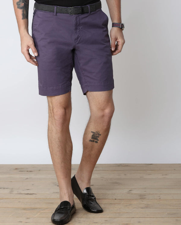 MALFOS-1-Casual Shorts-PURPLE SHORTS RARE RABBIT