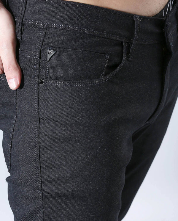 COLD-2-DENIM PANTS-BLACK DENIM PANT RARE RABBIT