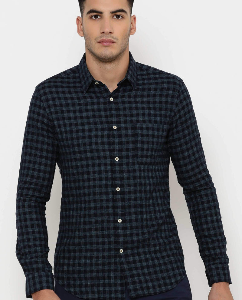 Peru-Check Shirt-Blue