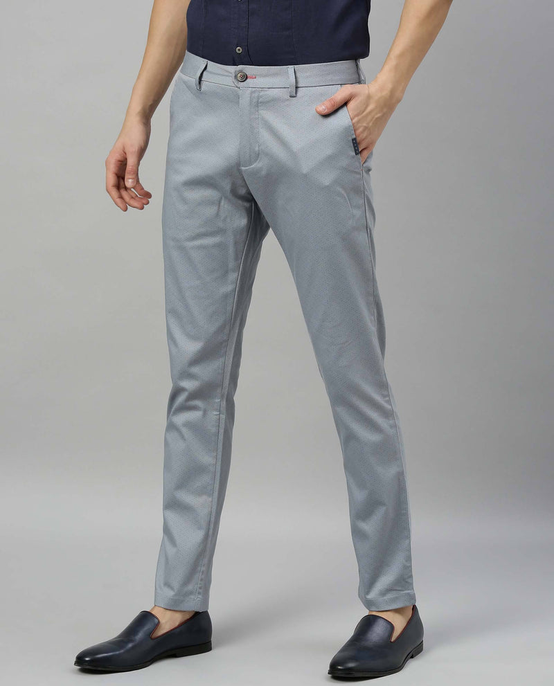 STIPLING-FL-SOLID TROUSER-BLUE TROUSERS RARE RABBIT
