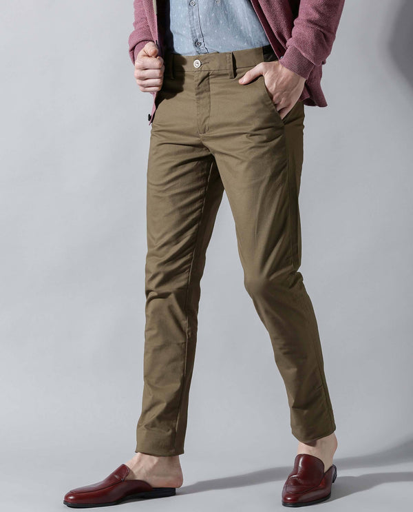 DARO 3-Slim Fit Trouser/Chino-TAN TROUSERS RARE RABBIT