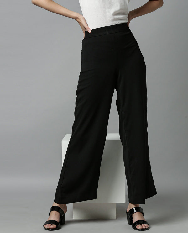 GLIDE-FLARED TROUSER-BLACK TROUSERS RAREISM