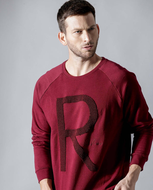BOOMIE-2- STYLISH SWEATSHIRT- MAROON T-SHIRT RARE RABBIT