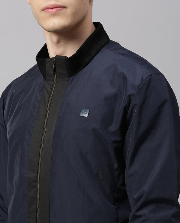 BASE-MEN'S STYLISH BOMBER JACKET-NAVY JACKETS RARE RABBIT