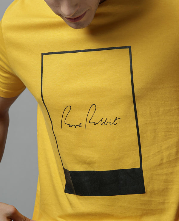 POLOROID-Graphic T-shirt -YELLOW T-SHIRT RARE RABBIT