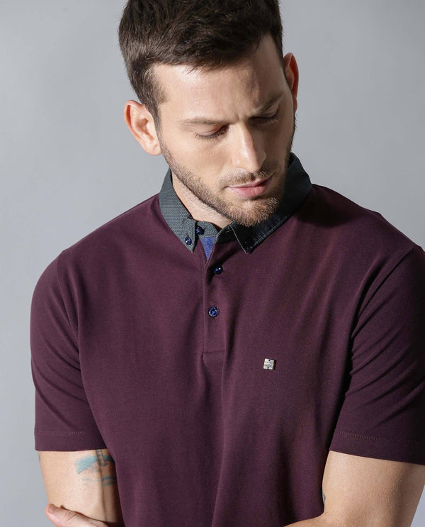 RINGS-Liquid Cotton POLO -MAROON POLO RARE RABBIT
