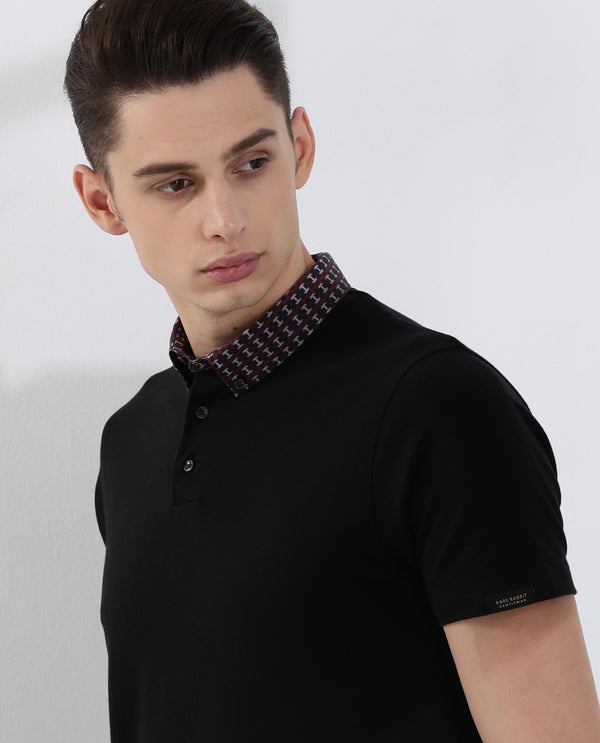 Rings-2-Polo T-shirt-Black