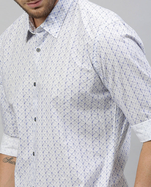 Prismo-Printed Shirt-White