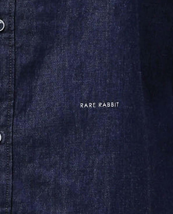 RIMO-DENIM SHIRT-INDIGO SHIRT RARE RABBIT