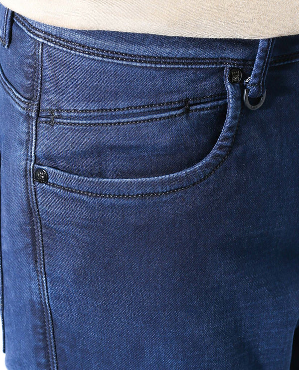 DEEP-DENIM PANTS-BLUE DENIM PANT RARE RABBIT