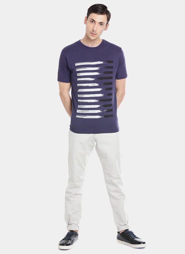 TUGON-SUPIMA COTTON T-SHIRT- NAVY