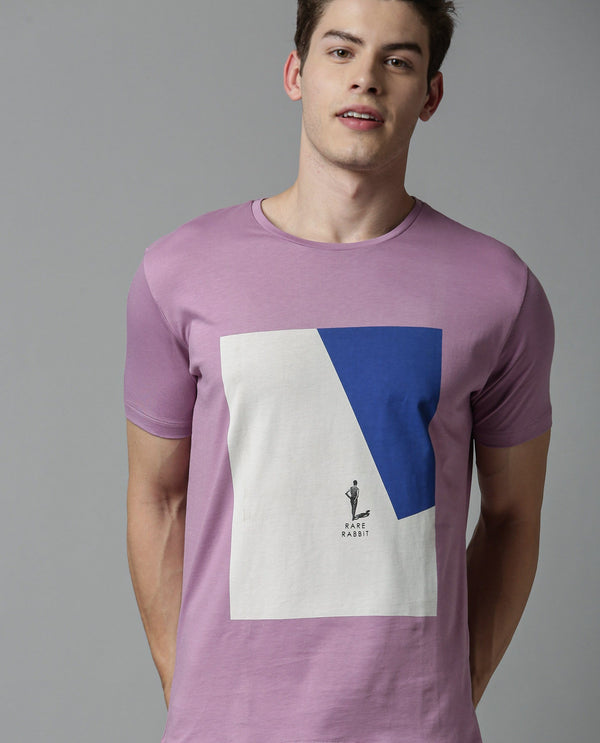 LUCAS- Graphic PIMA T-shirt-Pink T-SHIRT RARE RABBIT