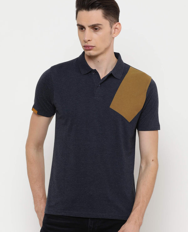 Slitter-2 Polo Neck-Navy