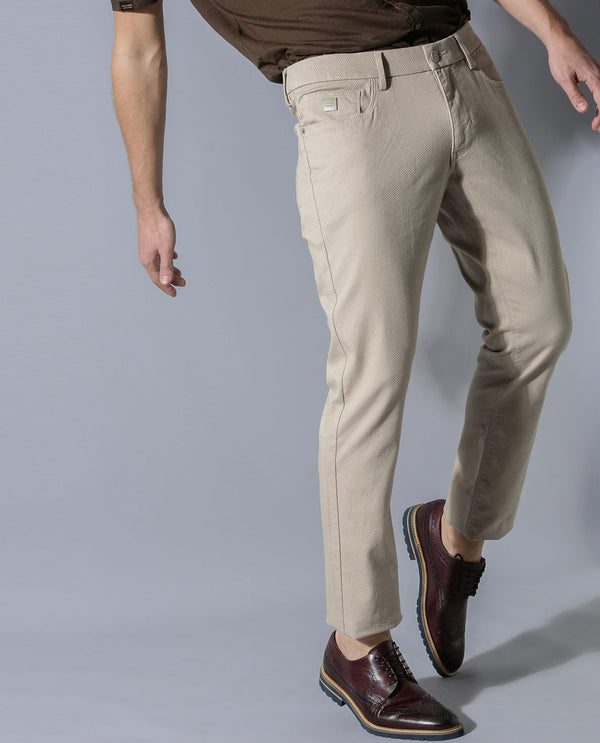 ROLOX-SOLID TROUSERS-BEIGE TROUSERS RARE RABBIT