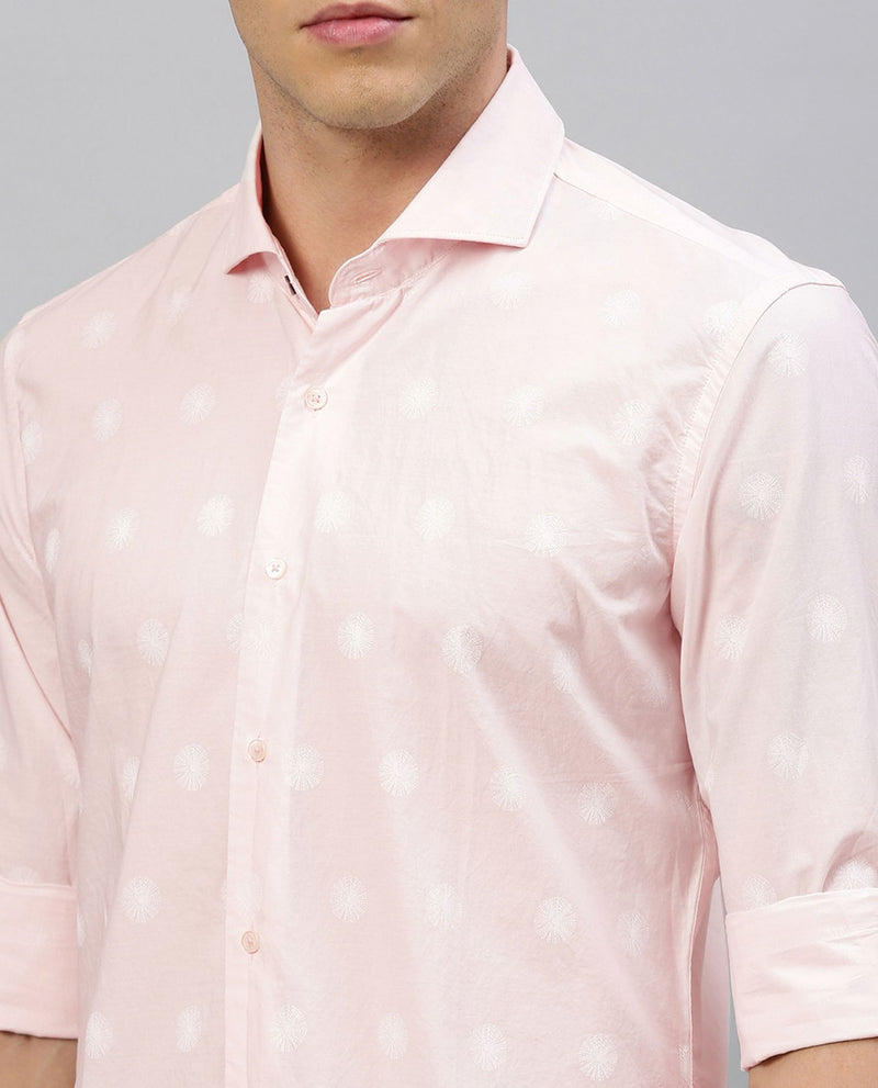 CRACKER 2- PRINTED SHIRT-PINK SHIRT RARE RABBIT