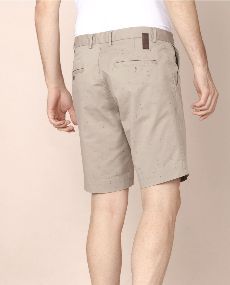LOGOMANIA-2.1-MEN'S SHORTS-BEIGE SHORTS RARE RABBIT