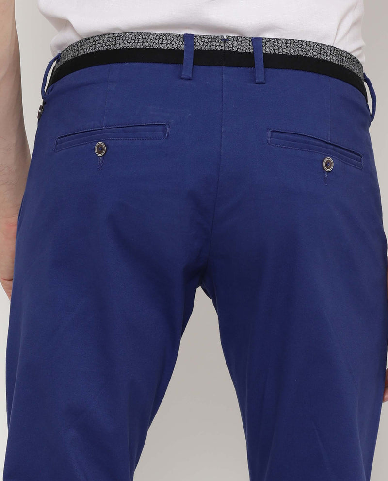 Daro-5-Solid Trouser-Blue TROUSERS RARE RABBIT