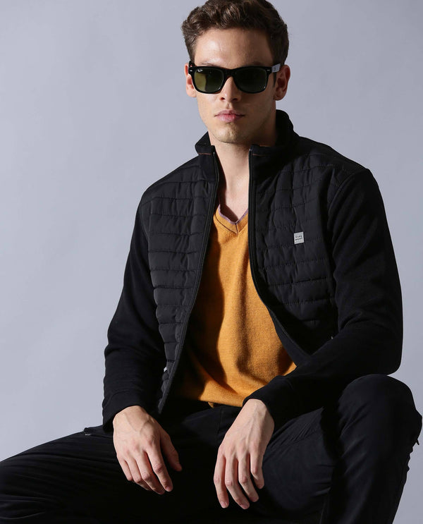 DASKER-Casual Jacket-BLACK COTTON JACKET RARE RABBIT