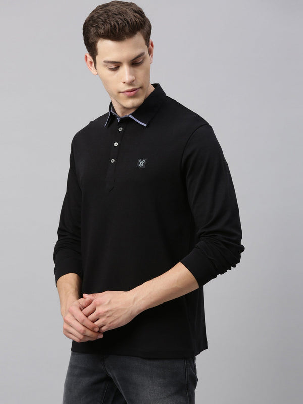 ZORO-FULL SLEEVE POLO-BLACK POLO RARE RABBIT