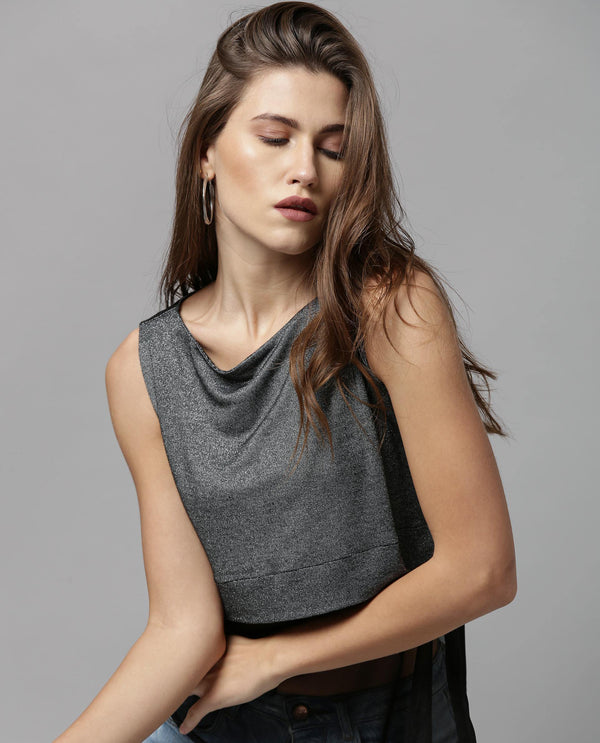 ORION-SLEEVELESS SHEER TOP-BLACK TOP RAREISM
