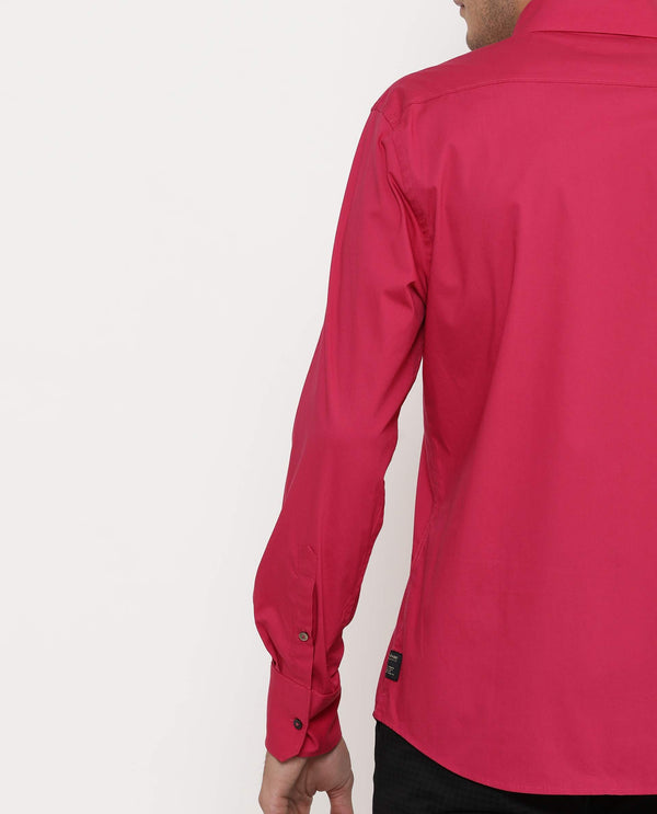 Stretch Lycra Shirt-Neutron-5-Dark Pink SHIRT RARE RABBIT