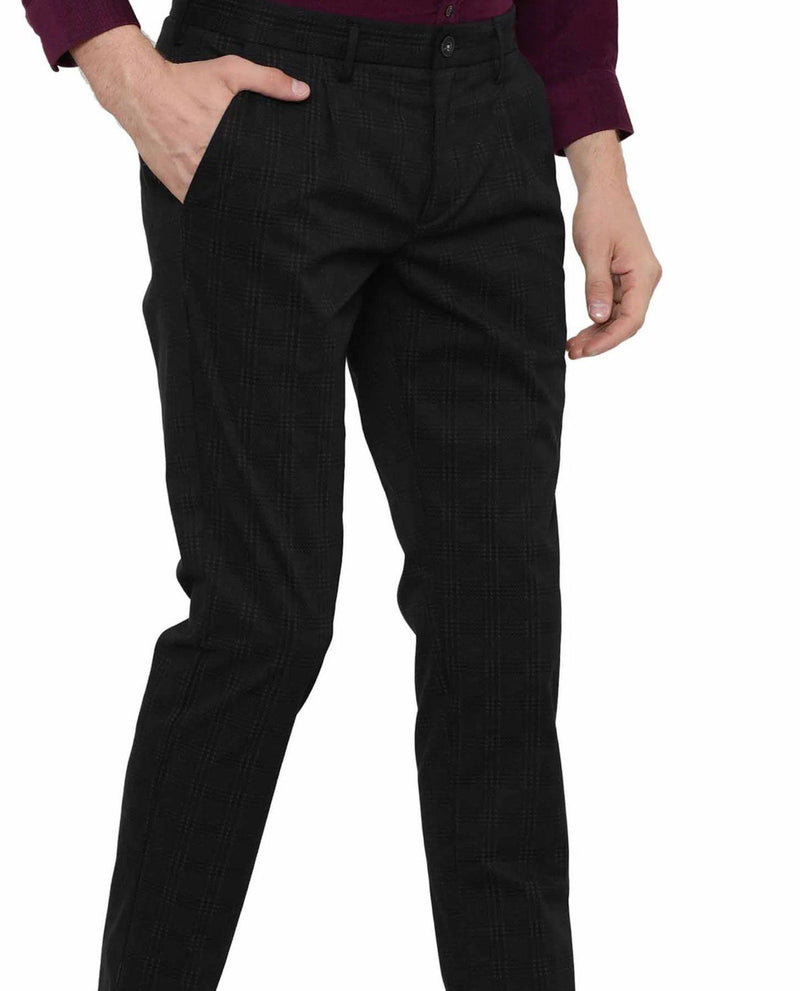 Tweed-Check Trouser-Black