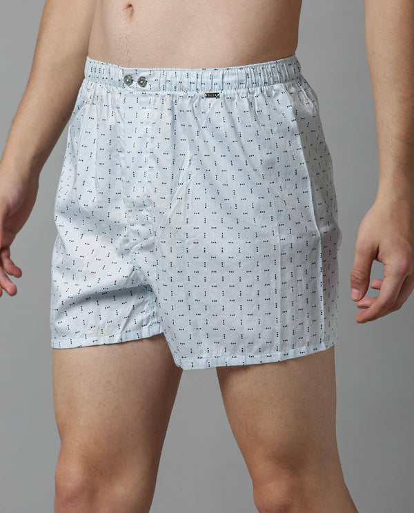BOX 2-MENS COMFORT BOXERS-BLUE BOXER RARE RABBIT