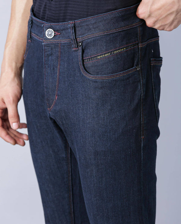 DRATT-DENIM PANTS-NAVY DENIM PANT RARE RABBIT