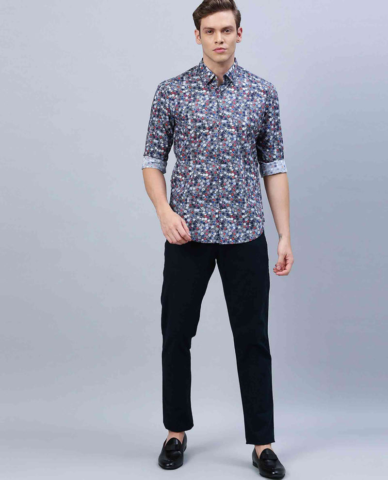 Enthu- Floral Print Shirt -Blue SHIRT RARE RABBIT