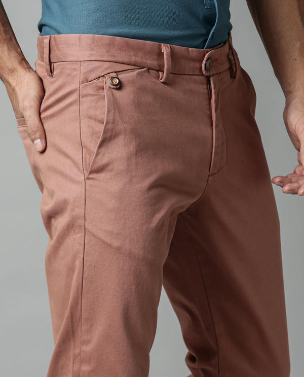 APPY-RUST TROUSERS RARE RABBIT