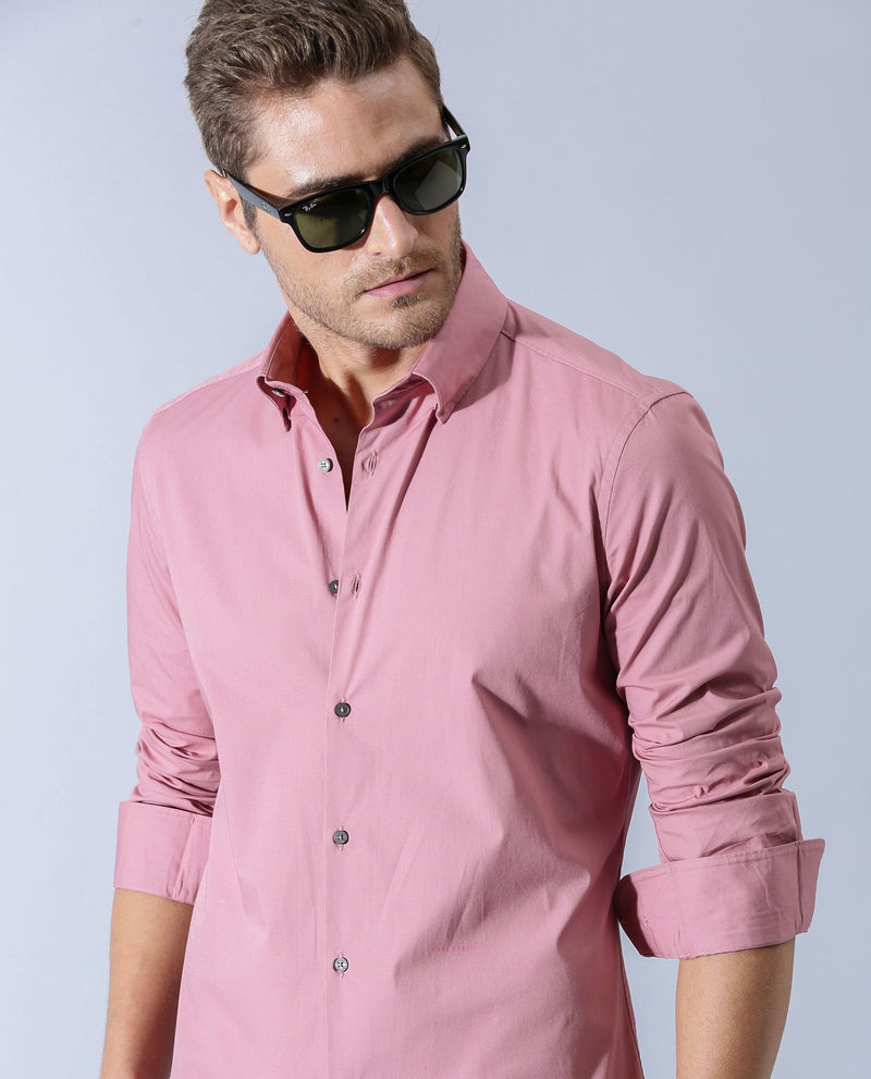 NEUTRON-7-SOLID SHIRT- PINK SHIRT RARE RABBIT