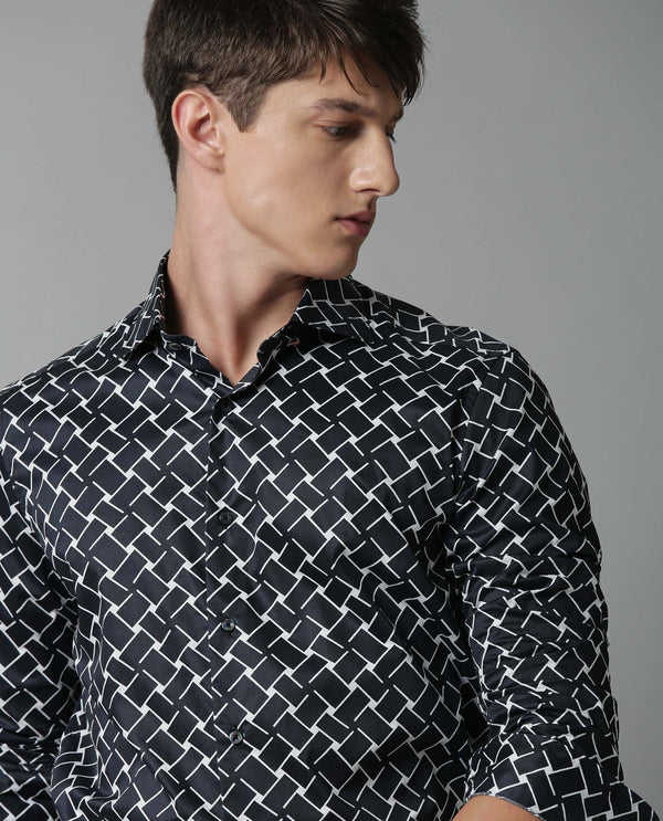 DISEY-PRINTED SHIRT-BLACK SHIRT RARE RABBIT